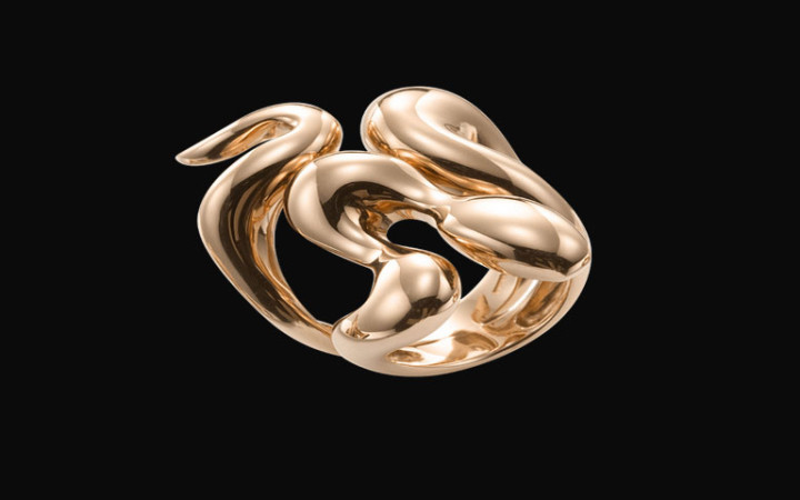 African Queen, Anello serpente in oro rosa
