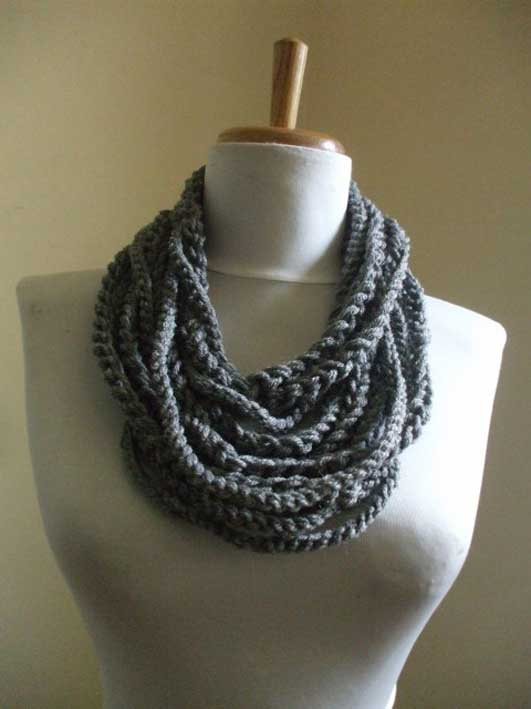 10-The-GODDESS-Scarf-Crochet-Chain-Scarf-Necklace-Neckwarmer-Womens-Scarf-Circle-Scarf-Gray-Grey-€12,38