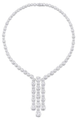 Round Diamond Drop Necklace