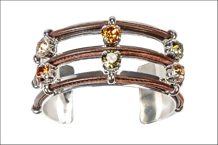 Bracciale rigido marrone