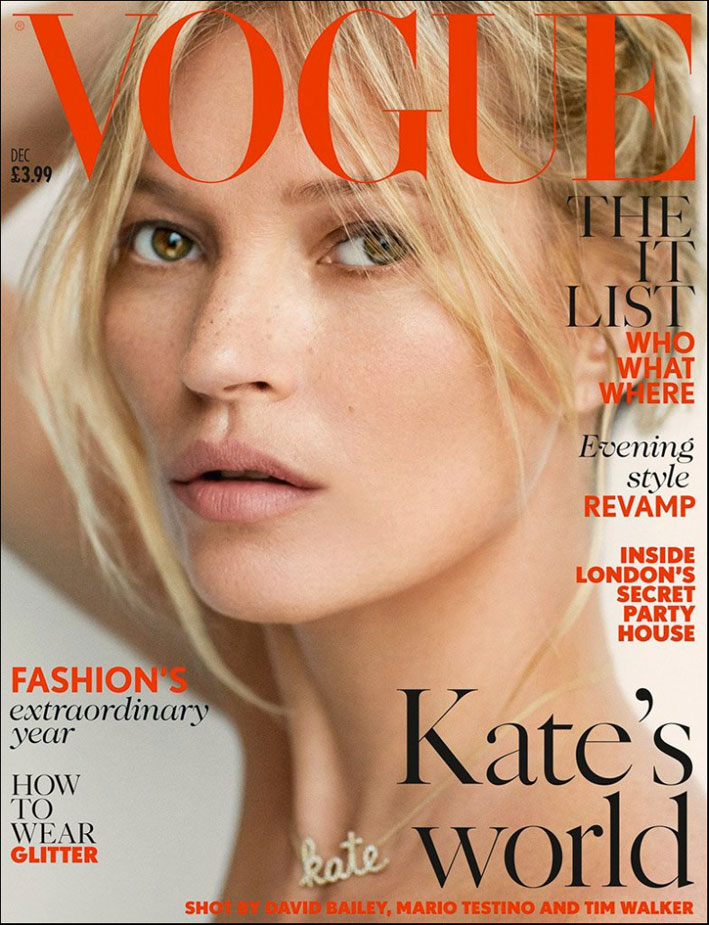 Kate Moss su Vogue Uk