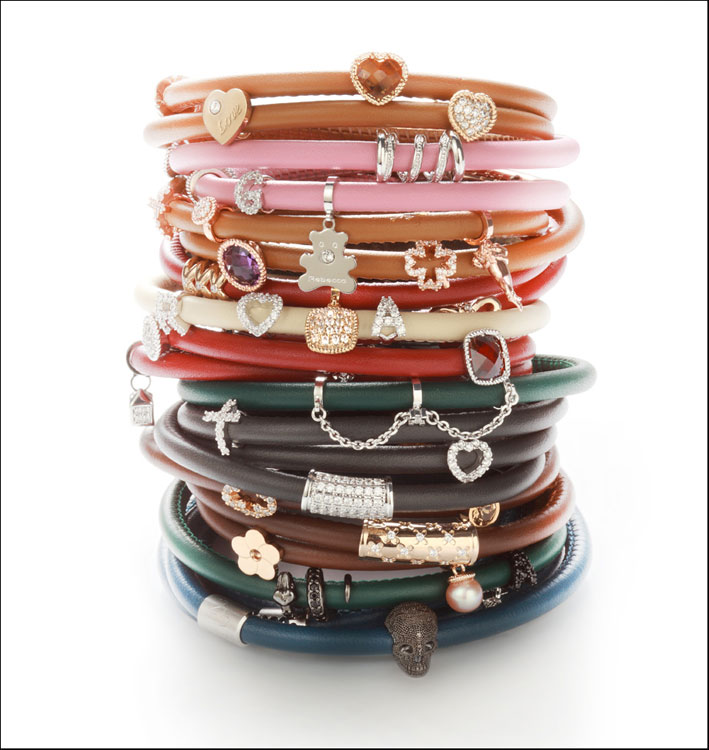 Bracciali di cuoio con charms My World