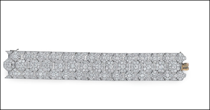 Bracciale con diamanti Art Deco di Cartier
