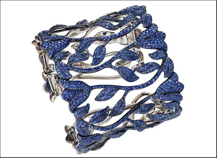 Chopard, bracciale Red Carpet Collection 2012 in titanio con 2.417 zaffiri blu