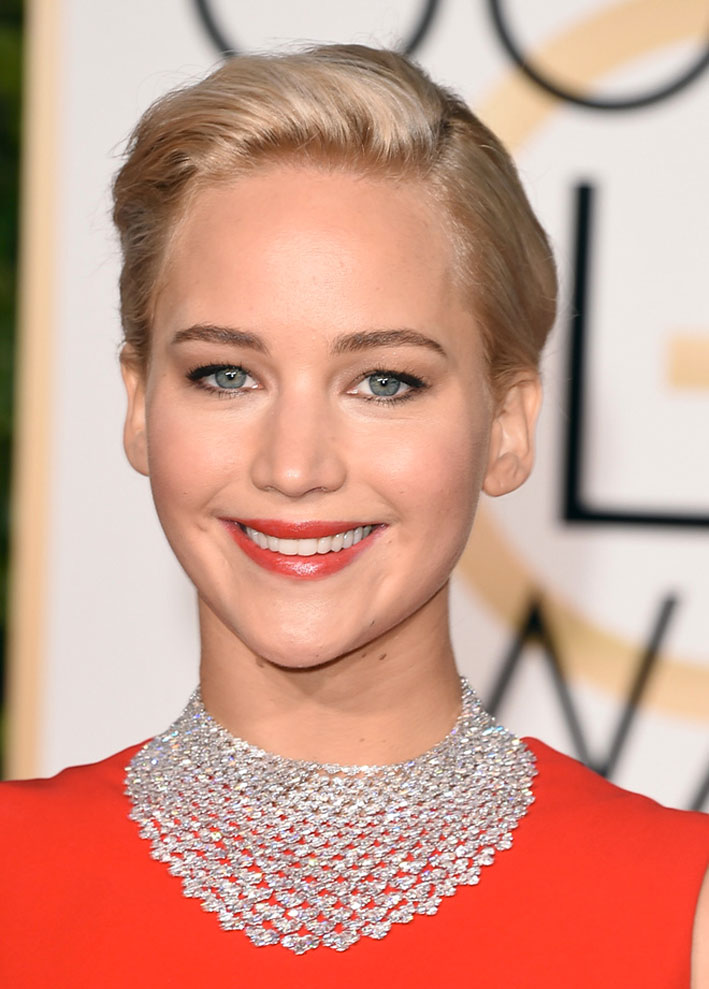 Jennifer Lawrence con collana di Chopard