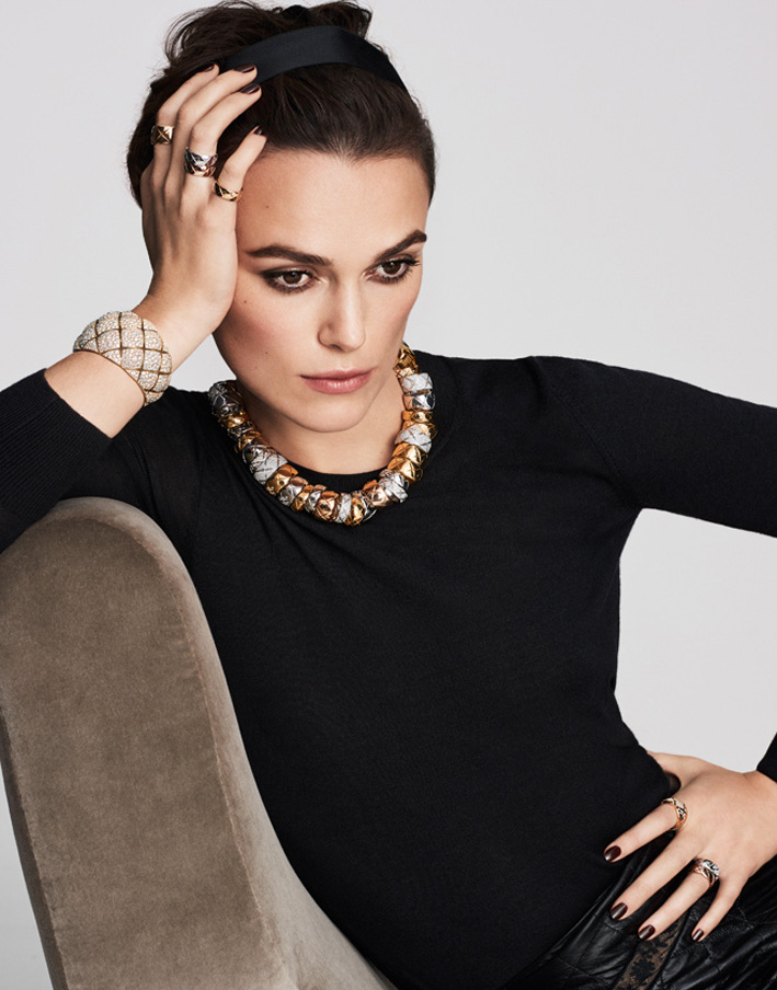 Keira Knightley con collana firmata Chanel