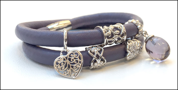 Bracciale Purple Sage con charms