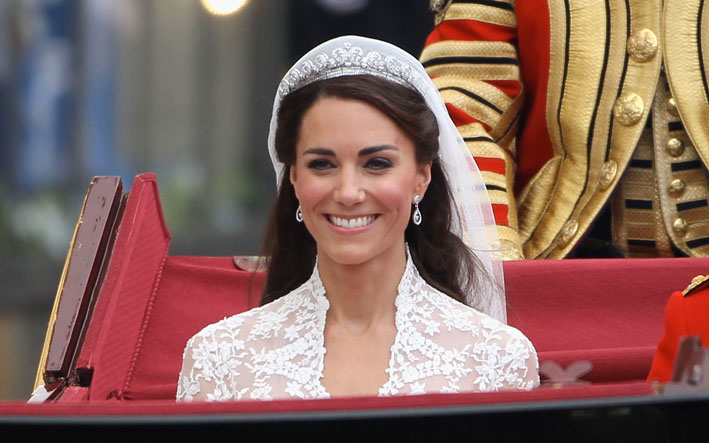 Kate Middleton con la Halo tiara