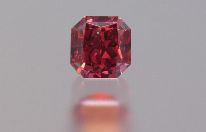 Raro diamante Fancy Red australiano