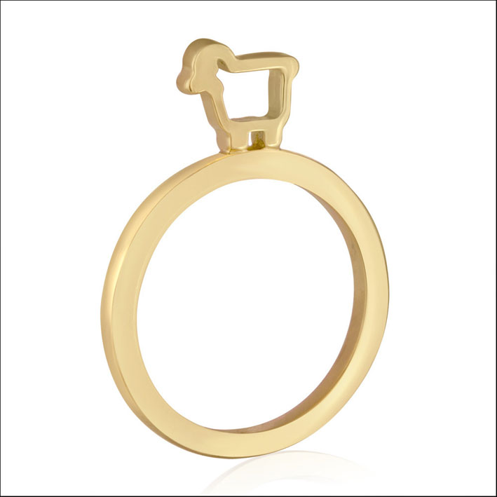 Anello Slice Stacking in oro. Prezzo: 750 dollari