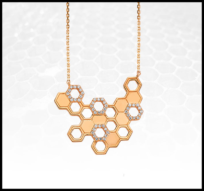 Collana Honey Comb
