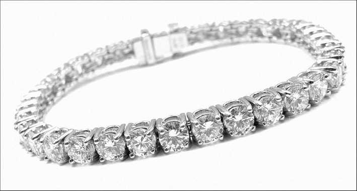 Bracciale tennis in diamanti