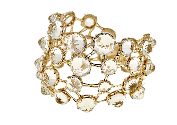 Selim Mouzannar, Transparence collection, bracciale in oro e topazi