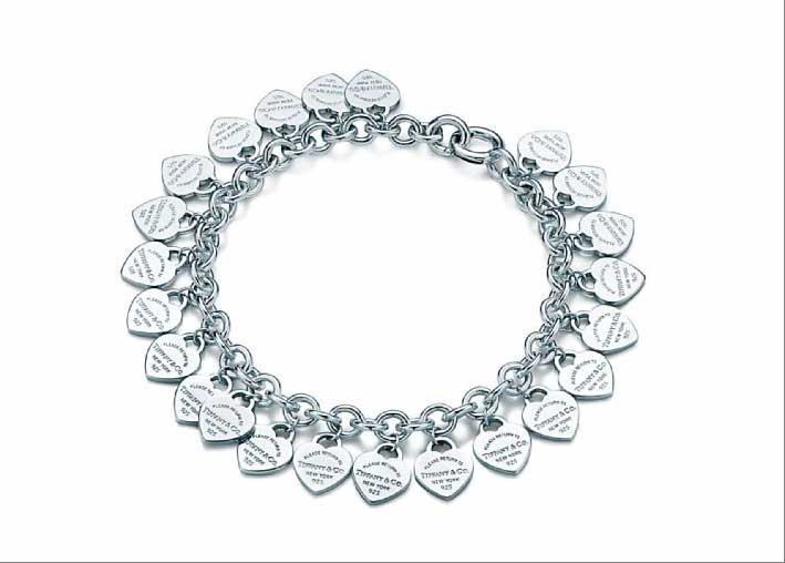Bracciale Multi Heart, Please return to Tiffany, in argento. Prezzo: 440 euro