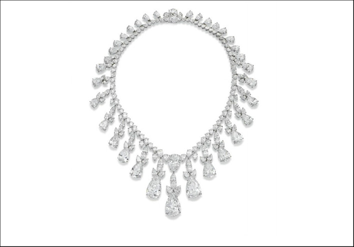 Collana di diamanti firmata Harry Winston, venduta per 8,3 milioni di dollari allo stesso Harry Winston
