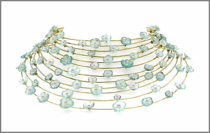 Collana Blue Showers con acquamarine