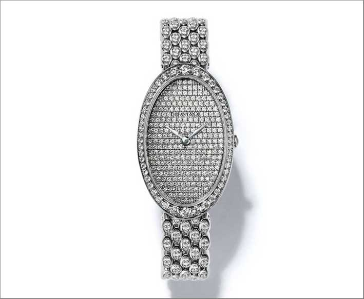Tiffany, orologio Cocktail, in oro bianco e diamanti
