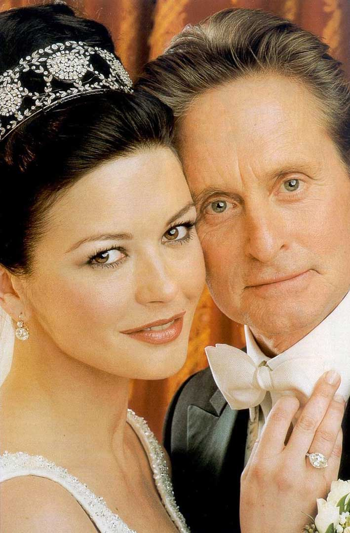Catherine Zeta Jones com Michael Douglas