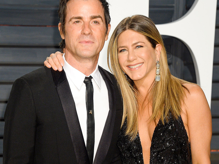 Jennifer Aniston con il marito Justin Theroux