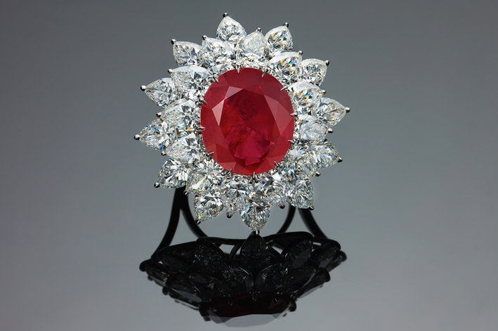 The Grand Mogok Ruby, pietra di 15 carati naturale