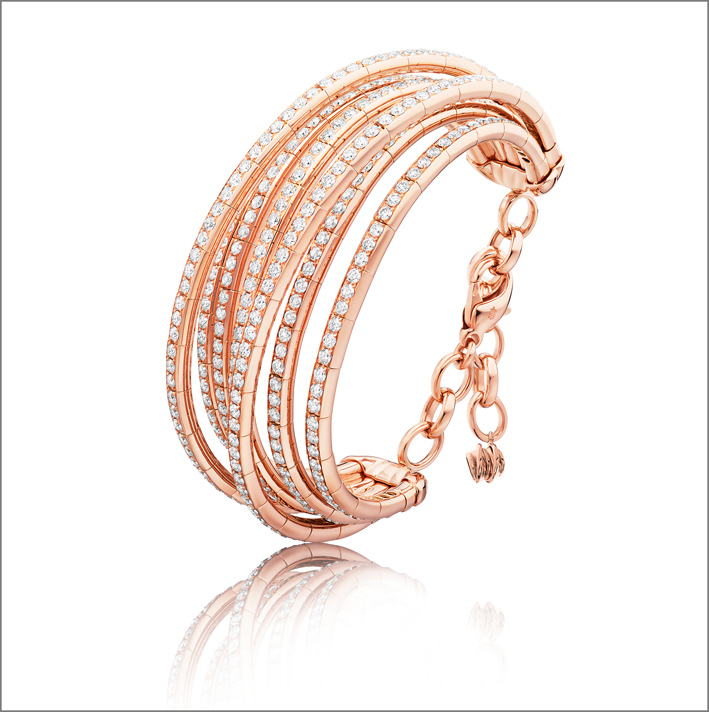 Bracciale Allegra in oro rosa e diamanti