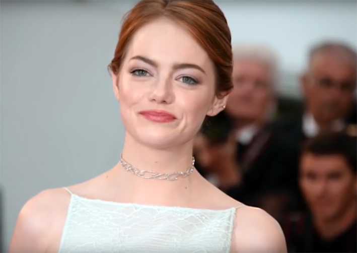 Emma Stone con chocker di Repossi