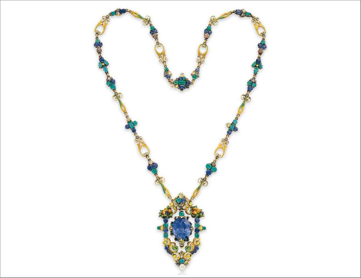 Collier multi gemma di Louis Comfort Tiffany. Venduta per 271.000 dollari