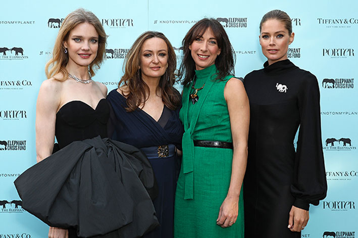 Immagine dalla serata in favore di Save the Elephants: Doutzen Kroes di Save the Elephants, Natalia Vodianova, Lucy Yeomans, Samantha Cameron e Doutzen Kroes