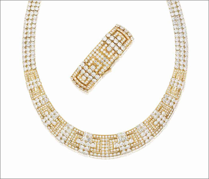 Set di Cartier in oro e diamanti