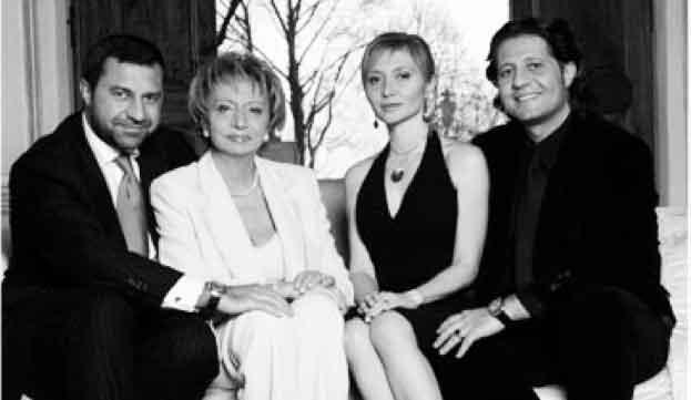 Giorgio, Gabriella, Silvia e Guido Damiani