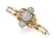 Braccialetto di oro, platino e diamanti, firmato Trabert & Hoeffer-Mauboussin. Valutazione: 25.000-35.000 dollari