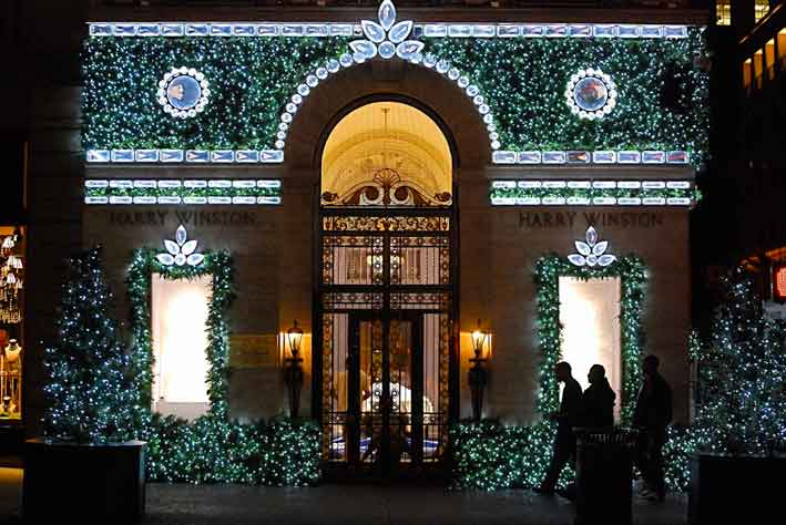 La boutique di Harry Winston a New York