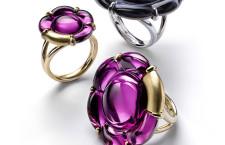 Anelli in argento dorato e cristallo