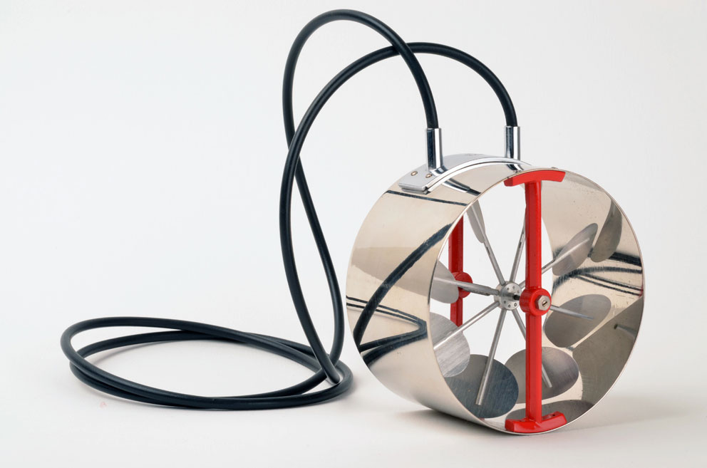 Turbine Necklace no.2, Sigurd Bronger, collana, ottone cromato, alluminio verniciato, acciaio e cavo di gomma