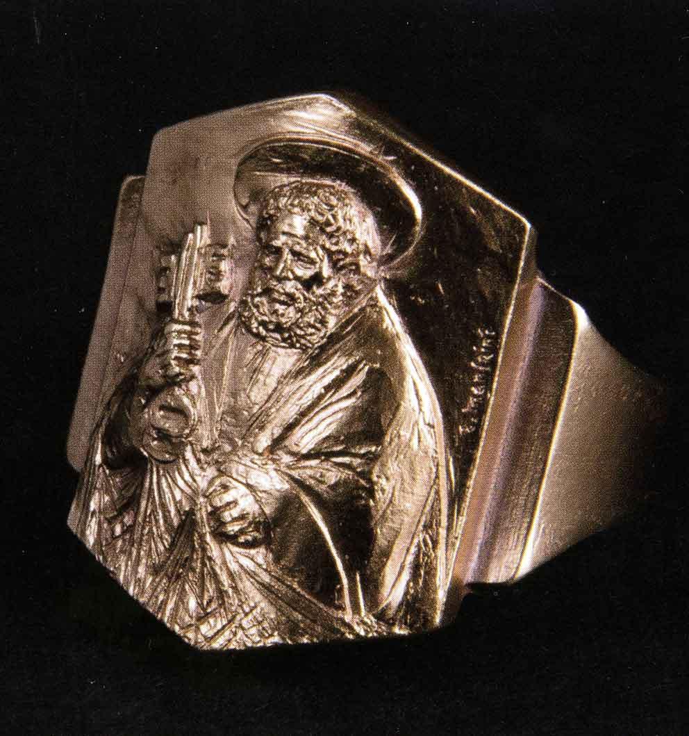 L'anello piscatorio di papa Francesco