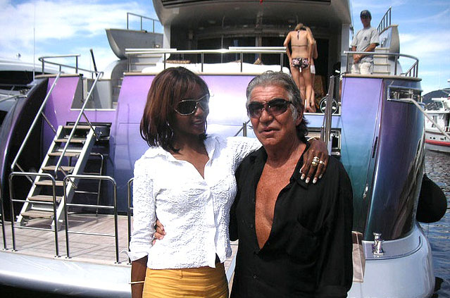 Roberto Cavalli and friend