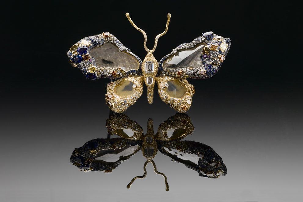 Una farfalla con 2.328 gemme