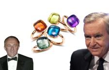 Francois-Henri Pinault (a sinistra), gli agognati gioielli di Pomellato e Bernard Arnault