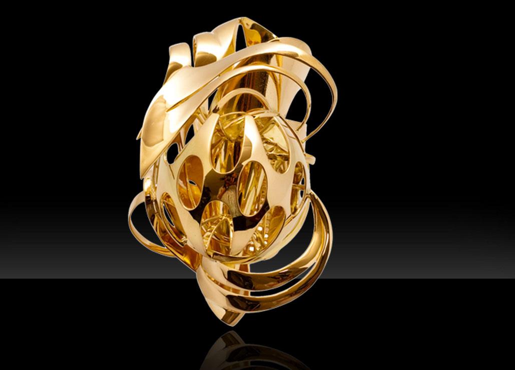 Frank Stella, anello di oro, 2010