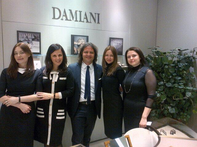 Guido Grassi Damiani, presidente e amministratore delegato del gruppo, all'apertura del negozio a Mosca