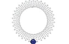 Collana di Cartier di diamanti e zaffiro. Stima: 2,3-3,6 milioni di dollari