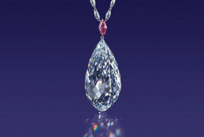 L'eccezionale diamante con taglio a pera venduto a Hong Kong per 11 milioni di dollari