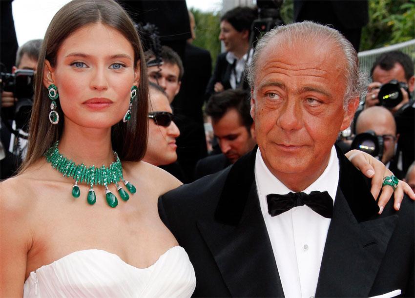 Il gioielliere de Grisogno con la modella Bianca Balti a Cannes, due anni fa