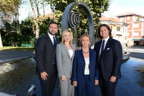 Da sinistra: Giorgio Damiani, vice-presidente, Silvia, vice presidente, segue gli acquisti e la comunicazione, Gabriella Damiani, presidente onorario, Guido Grassi Damiani,  amministratore delegato e presidente