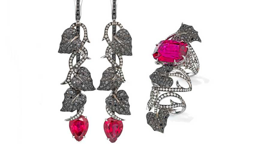 La collezione Dark Jewel disegnata per Dom Perignon