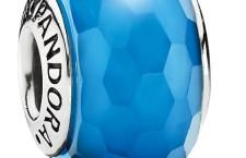 charm pandora murano blu