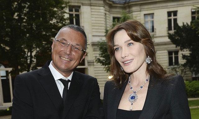 Carla Bruni e Jean Christophe Babin, amministratore delegato di Bulgari