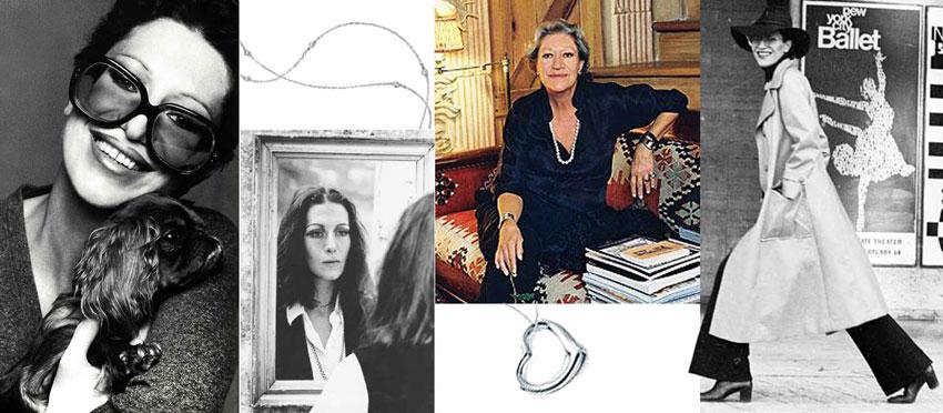 Un collage di immagini di Elsa Peretti