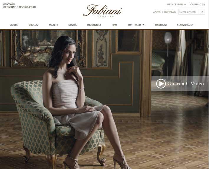 Fabiani Gioiellerie sul web