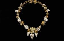Collana di perle naturali e oro. Londra, circa 1950